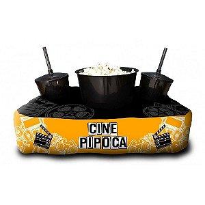 Almofada Porta Pipoca Personalizada Cine Pipoca Netflix Series Filmes Maratonas Presente Família Casal 2 Copos 300 ml Cada 1 Balde 3 litros