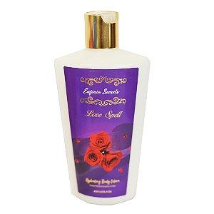 Creme Hidratante Loção Corporal Braços Perna Pele Suave Macia Perfumado Massagem Euforia Secrets Love Spell 250ml
