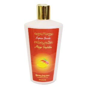 Creme Hidratante Loção Corporal Braços Perna Pele Suave Macia Perfumado Massagem Euforia Secrets Mango Temptation 250ml