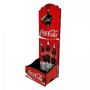 Abridor De Garrafa Parede Personalizado Coca Cola 34CM Depósito Tampinhas