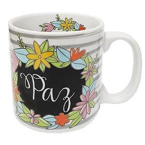 Caneca Personalizada Paz Porcelana 300ml Presente Aniversário Brinde