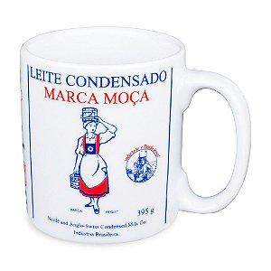 Caneca Personalizada Leite Moça Porcelana 300ml Presente Aniversário Brinde