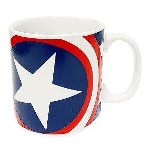 Caneca Personalizada Capitão América Porcelana 300ml Presente Aniversário Brinde