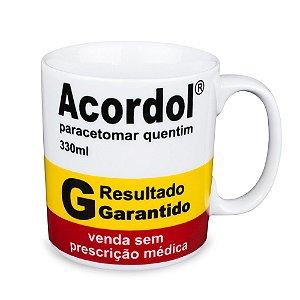 Caneca Personalizada Acordol  Porcelana 300ml Presente Aniversário Brinde