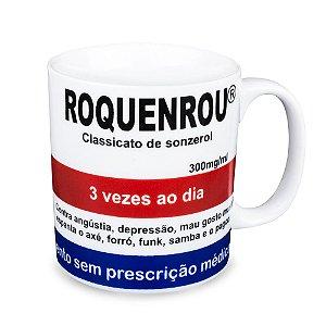 Caneca Personalizada Roquenrou  Porcelana 300ml Presente Aniversário Brinde