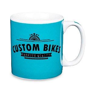 Caneca Custom Bikes Porcelana 300ml Presente Aniversário Brinde