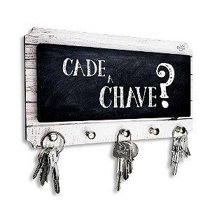 Porta Chaves E Cartas Decorativo Moderno Frase Cadê A Chave?