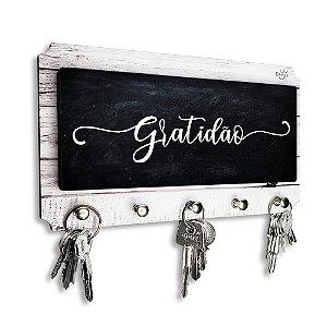 Porta Chaves E Cartas Decorativo Personalizado Gratidão