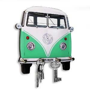 Porta Chaves Decorativo Personalizado Kombi Verde 4 Chaveiros
