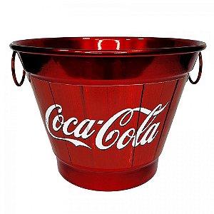 Balde De Gelo 6 Litros Em Alumínio Personalizado Pintura Eletrostática Coca Cola