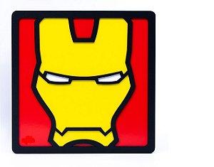 Quadro Decorativo 3D Alto Relevo Homem De Ferro Mdf 3mm