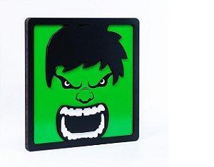 Quadro Decorativo 3D Alto Relevo Hulk Mdf 3mm