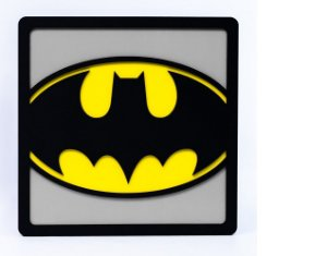 Quadro Decorativo 3D Alto Relevo Batman Mdf 3mm