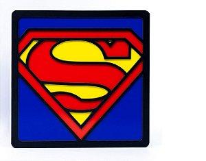 Quadro Decorativo 3D Alto Relevo Superman Mdf 3mm