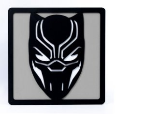 Quadro Decorativo 3D Alto Relevo Pantera Negra Mdf 3mm