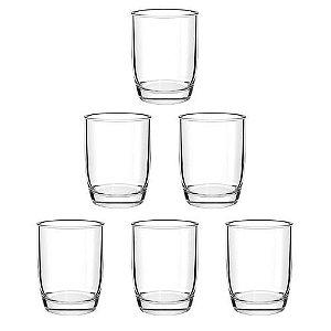 Conjunto 6 Copos De Vidro Para Água 280ml Monterrey Transparente Cisper