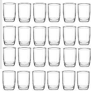 Conjunto 24 Copos De Vidro Transparente 280ml Monterrey Cisper Bar Restaurante