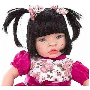 Boneca Bebe Reborn Grande 52 cm Chora De Verdade Super Promoção Baby Kiss