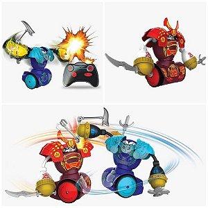 Robos Samurais Silverlit Armadura Jogo de Luta 5 Acessórios