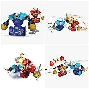 Robô Kombat Luta Artes Marciais Samurai Com Armadura + Acessórios Silverlit