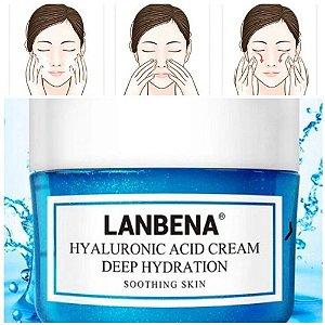 Creme Facial Acido Hialurônico Anti Idade Rugas Envelhecimento Clareamento Manchas 40g