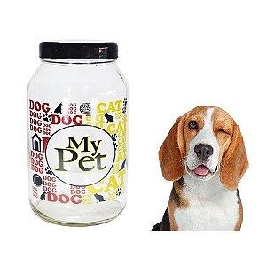 Pote Para Ração My Pet 3kg Tampa Preta