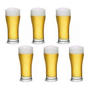 Jogo De Copos Cerveja Chopp Vidro 6 Peças 296ml Pilsener
