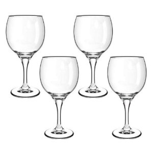 Conjunto De Taças 4 Peças Água Vinho 620ml Vidro Transparente Premiere Gran Vino