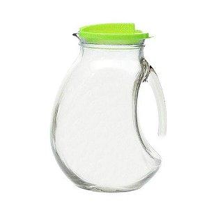 Jarra De Vidro Suco Água Bebidas 1,5L Com Tampa