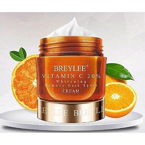 Creme Facial Vitamina C 20% Clareador Manchas Escuras Melasma 40g Breylee