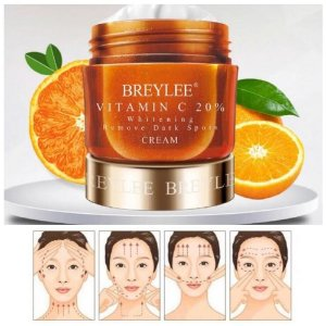 Creme Facial Vitamina C Antioxidante Anti Idade Rugas Manchas Melasma 40g Breylee