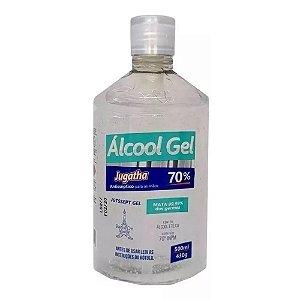 Alcool Gel 70% Proteção Contra Germes Vírus Bactérias Jugatha 500ml Cada Kit 3 Unidades