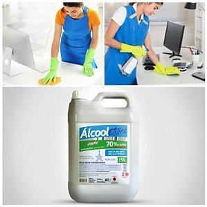 Álcool 70% Bactericida Antisséptico 5 Litros