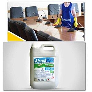 Álcool Líquido 70% Para Mãos Antisséptico Higienizador 5 Litros