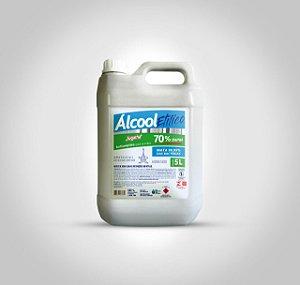 Álcool Líquido 70% Antisséptico Proteção Limpeza 5 Litros