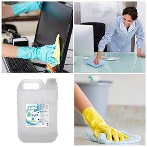 Higienizador Álcool Etílico 70% Escritórios Clinicas Casa Chão Germicida Desinfetante Galão 5 Litros DepiMax