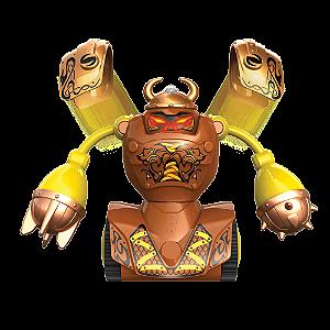 Robô Kombat Luta Viking Com Armadura + Acessórios Silverlit