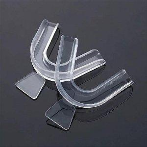Placa Moldável para Bruxismo Ranger Dentes ou Desgaste 1 Par Silicone Moldável