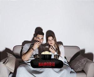 Almofada Kit Cinema Em Casa Porta Pipoca Copos + Balde Namorix