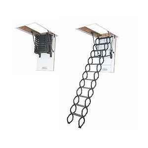 Escada Para Sótão Em Metal Lst Fakro 70x80x280