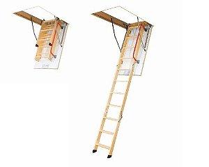 Escada de madeira para sotão LWK Komfort Fakro 60x100x280
