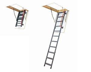 Escada para sótão em metal LMK-Konfort - FAKRO 60x120x280
