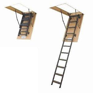 Escada para sótão em metal LMS FAKRO 60x120x280