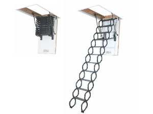 Escada para sótão em metal LST FAKRO 60x90x280