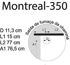 Fogão a Lenha Montreal Tripla Combustão Chapa Vitro  Marsala C/ Inox D  -  351 VL VM D  Antonow