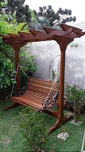 Banco  de Balanço de madeira - Havaí Pérgola - Merco Comercial