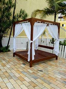 Cama Balinesa em Madeira - LUXO !! - Merco Comercial