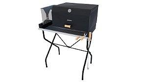Parrilla Caminito Preta / Completa / Grelha Regulável de Aço Inox 304 / Queimador de Aço Inox para Alta Temperatura