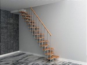 Escada Santos Dumont Aço E Madeira Natural ou Nogueira 2,85m Até 200kg!