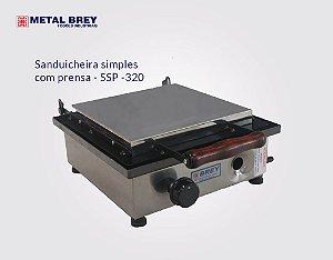 Sanduicheira Simples Com Prensa SSP - 320 / Metal Brey